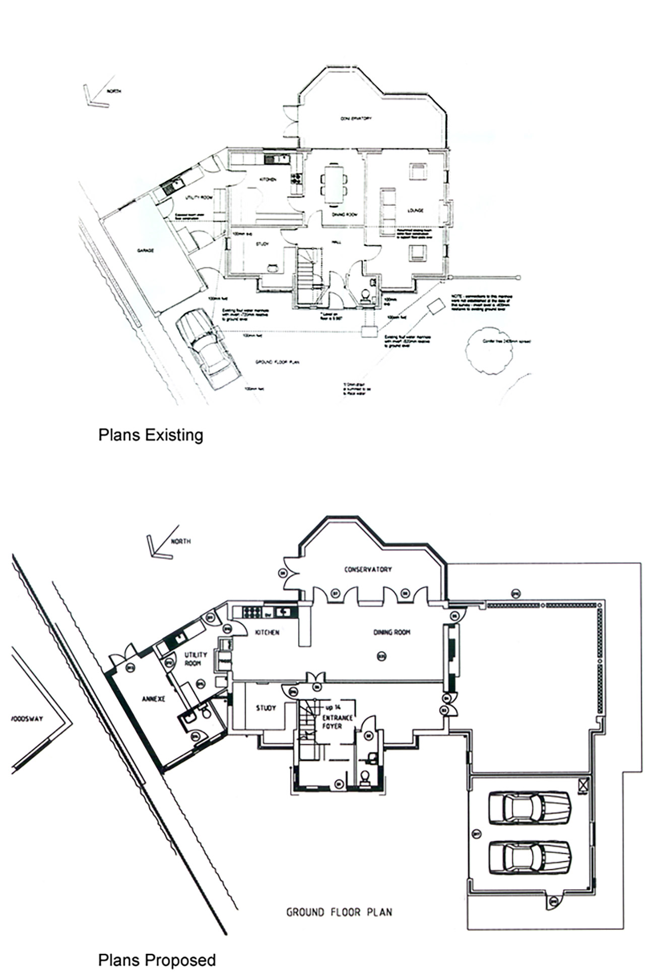 Floor plan for Oxshot Housing development
