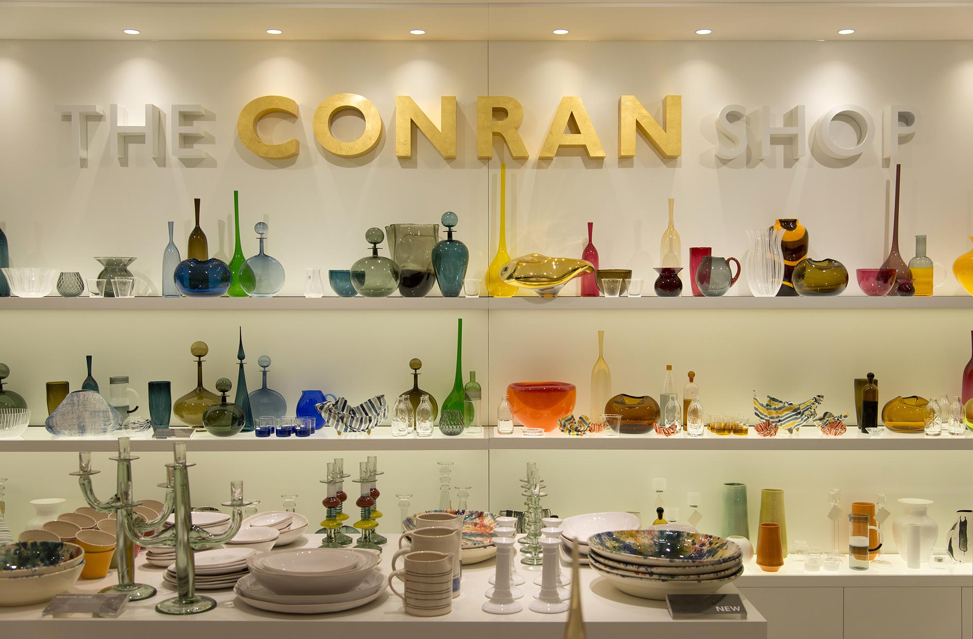 The Conran Shop, Selfridges, London gold leaf logo