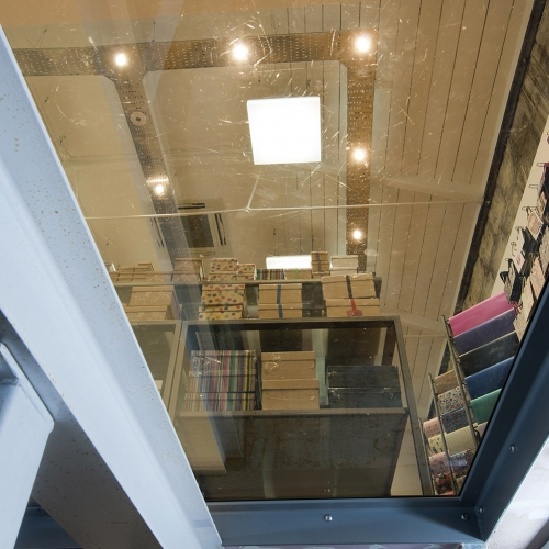 View from the basement at Paperchase Bath